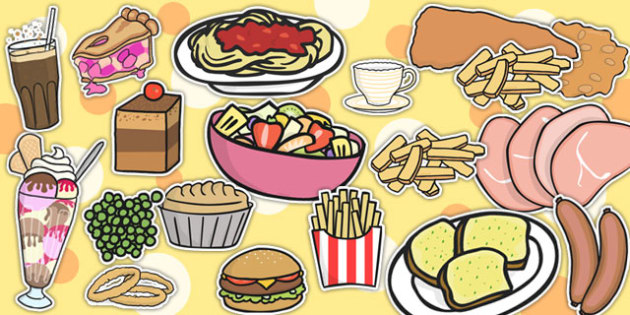 Restaurant Role Play Food Cut Outs - food, roleplay, prop, cutout