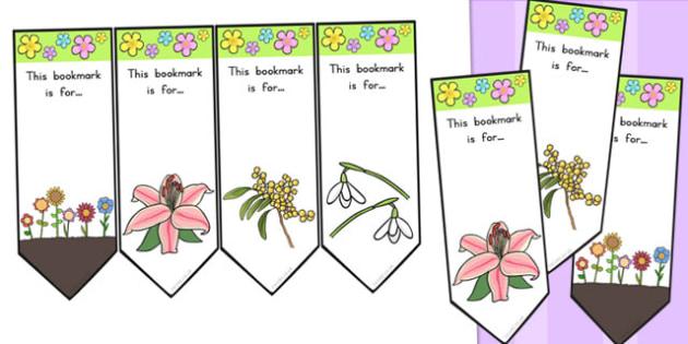 Flower Bookmarks - Australia, Flower, Book, Bookmarks, Grow