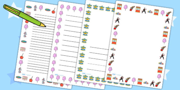 Fairground Page Borders - fairground, page, borders, page borders
