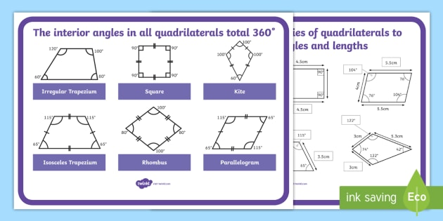 Finding Missing Angles And Lengths Of Quadrilaterals