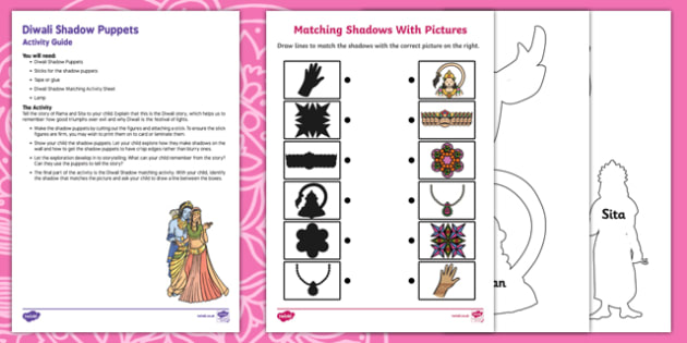 Diwali Shadow Puppets Busy Bag Resource Pack for Parents