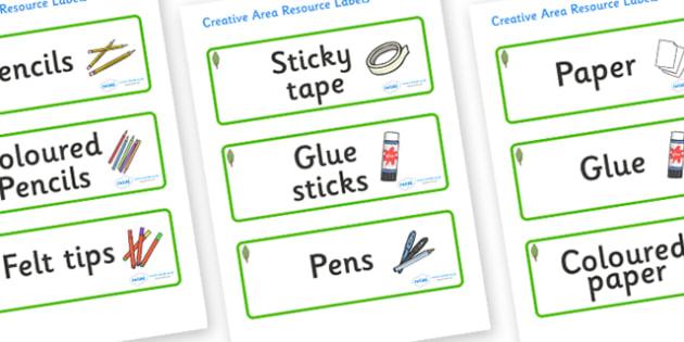 Poplar Tree Themed Editable Creative Area Resource Labels - Themed creative resource labels, Label template, Resource Label, Name Labels, Editable Labels, Drawer Labels, KS1 Labels, Foundation Labels, Foundation Stage Labels