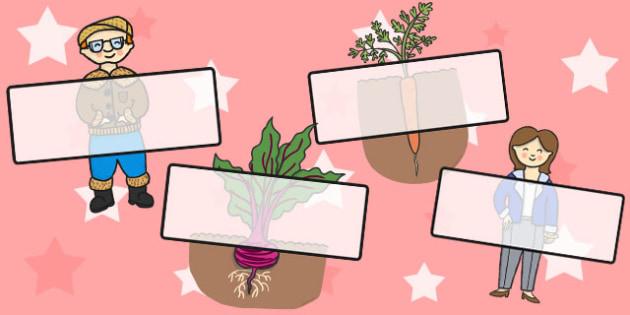 Oliver's Vegetables Editable Self Registration - stories, self reg