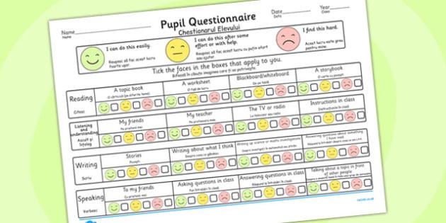Pupil Questionnaire Romanian Translation - romanian, questionnaire