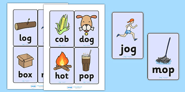 3 letter o words cvc word cards o cvc cvc word three phoneme words three 20069