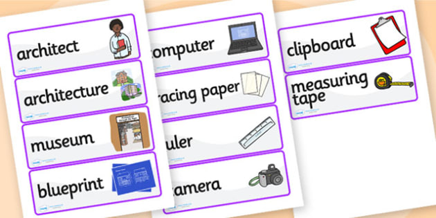 Architects Office Role Play Labels - architects office, architects, role play, labels, role play labels, labels for role play, role play props, display