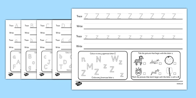 Alphabet Practise Activity Sheets - alphabet, alphabet practise, alphabet worksheet, worksheets, alphabet sheets, letters, a-z, letters practise, word practise, literacy, writing, tracing, letter formation