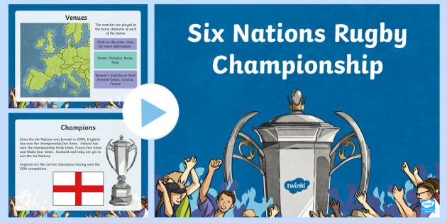 Six Nations Rugby Championship PowerPoint-Scottish - CfE, calendar events, Scotland, Scottish, traditions, history, celebrations, six nations, 6 nations,