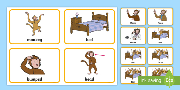 five little monkeys jumping on the bed game instructions
