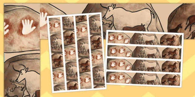 Cave Painting Display Border - cave painting, display border, display