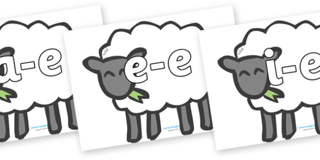 Modifying E Letters on Sheep - Modifying E, letters, modify, Phase 5, Phase five, alternative spellings for phonemes, DfES letters and Sounds