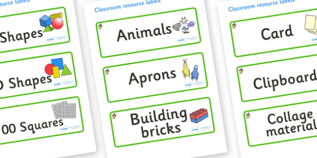 Acorn Themed Editable Classroom Resource Labels - Themed Label template, Resource Label, Name Labels, Editable Labels, Drawer Labels, KS1 Labels, Foundation Labels, Foundation Stage Labels, Teaching Labels, Resource Labels, Tray Labels, Printable lab