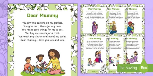 KS1 Mother's Day Poem
