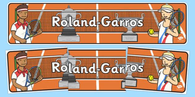 Roland-Garros Display Banner - roland-garros, french opens, stadium, display banner