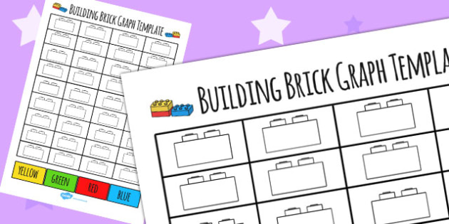 Building Brick Graph Template - building bricks, toys, graphs, numeracy, maths