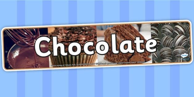 Chocolate Photo Display Banner - chocolate, IPC, IPC display banner, chocolate IPC, chocolate display banner, chocolate IPC display