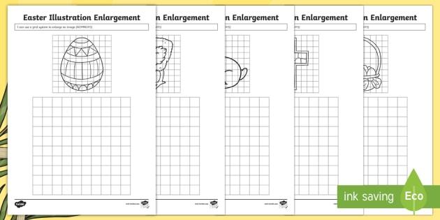 easter illustration enlargement worksheet activity sheet australia easter. Black Bedroom Furniture Sets. Home Design Ideas