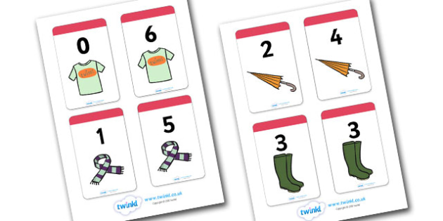 Number Bonds to 6 Matching Cards (Clothing) - Number Bonds, Matching Cards, Clothing Cards, Number Bonds to 6