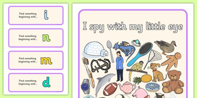 I Spy Phase 2 Set 2 - I Spy, phase 2, phase 2, spy, eye, activity, eal