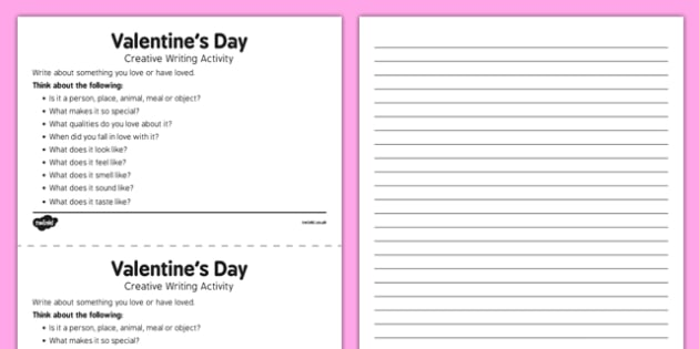 Adult Education Valentine's Day Creative Writing Activity - Elderly, Reminiscence, Care Homes, Valentine's Day