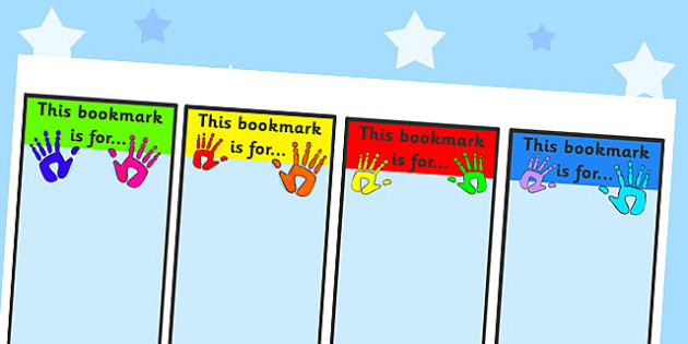 Handprint Bookmarks- handprint, bookmarks, pupil bookmarks, awards, certificates, themed bookmarks, reading, writing, english, literacy, words