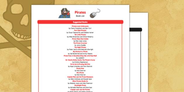 Pirates Book List