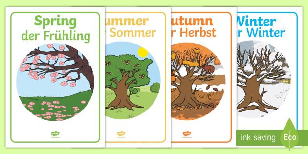 four seasons display posters seasons season autumn winter