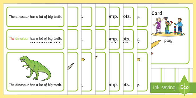 Dinosaurs Simple Sentence Cards