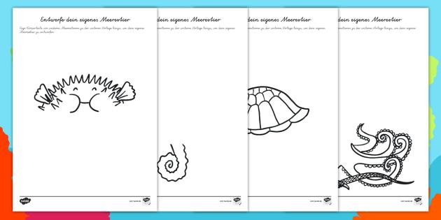 NEW * Lebensraum Meer: Entwerfe dein eigenes Meerestier