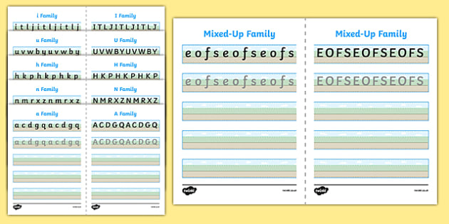 Can You Write Your Letter Families Worksheet Ground Sky Grass - australia, can you write, letter families, worksheet