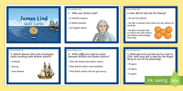 James Lind Quiz Cards