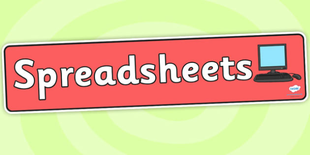 Spreadsheets Display Banner - spreadsheets, display banner, banner for display, display, banner, header, header for display, display header, class display