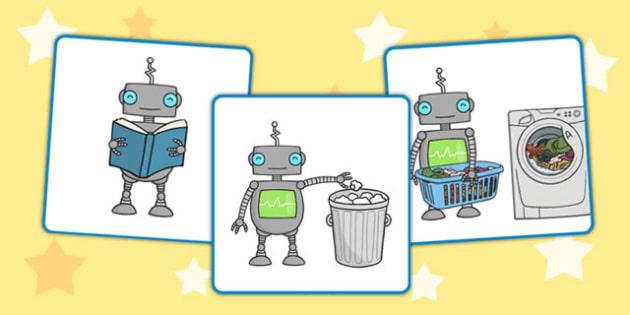 Robot Job Cards - robot, job cards, job, cards, robot job, display