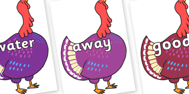 Next 200 Common Words on Hullabaloo Turkey to Support Teaching on Farmyard Hullabaloo - Next 200 Common Words on  - DfES Letters and Sounds, Letters and Sounds, Letters and sounds words, Common words, 200 common words