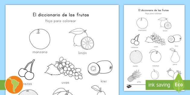 Hoja De Colorear Las Frutas Frutas Hoja De Colorear Manzana Pera