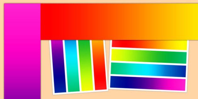 Rainbow Themed Display Borders - rainbow, display borders, display, borders