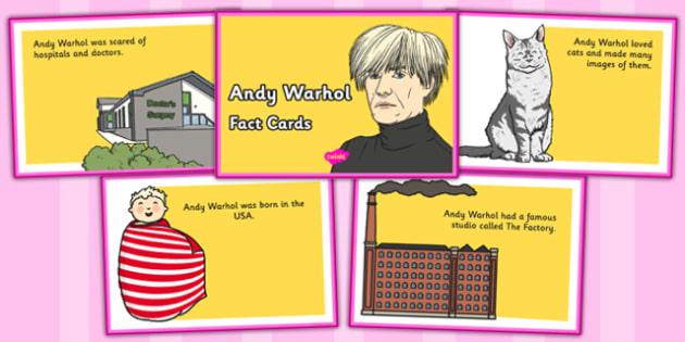 Andy Warhol Fact Cards - andy warhol, fact cards, fact, cards