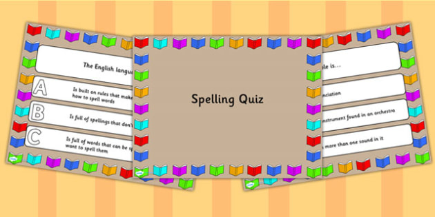 Spelling PowerPoint Quiz - spelling, powerpoint, quiz, games
