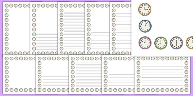 Clock Shop Page Border Pack - clock shop, role play, clock, shop, roleplay, page border, pack