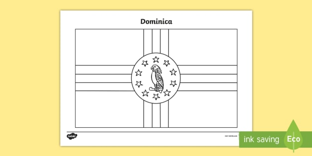 Dominica Flag Colouring Sheet - countries, geography, colour