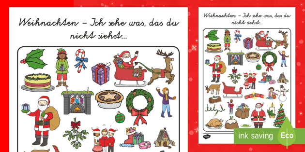 Beste Weihnachten Arbeitsblatt Ideen - Arbeitsblätter für ...