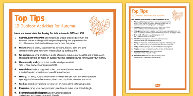 10 Outdoor Activity Ideas for Autumn Top Tips