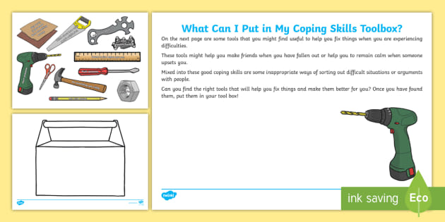 What Can I Put In My Coping Skills Toolbox? Worksheet