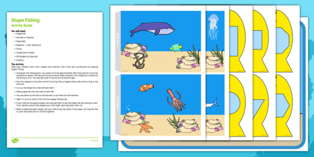 Shape Fishing Busy Bag Resource Pack for Parents