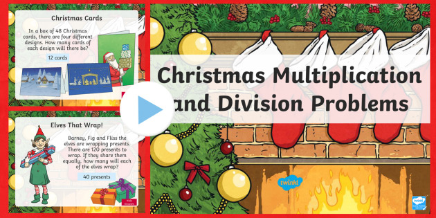 LKS2 Christmas Multiplication and Division PowerPoint