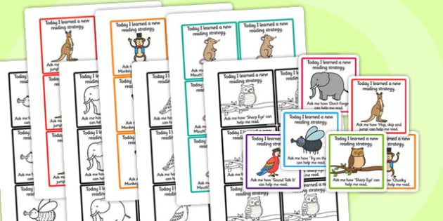 Guided Reading Strategy Cards To Send Home - guided reading, read