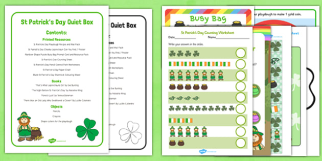 St Patricks Day Quiet Box - St Patrick's day, quiet box, quiet, box, quiet time, time