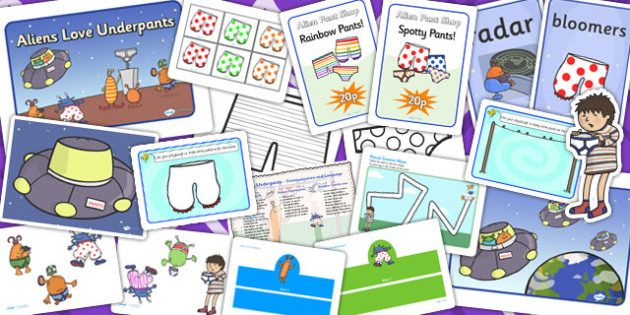 Childminder Resource Pack to Support Teaching on Aliens Love Underpants - child minder