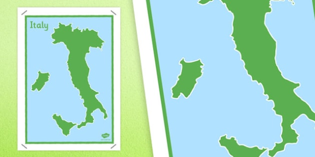 Large Blank Map of Italy - blank map, italy, map, large, blank