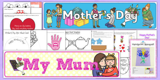 Childminder Mother's Day Resource Pack - Mother's Day, flowers, childminder, pack